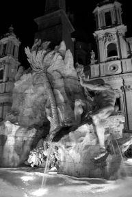 Bernini's Four Rivers Fountain, Fontana dei Quattro Fiumi.
