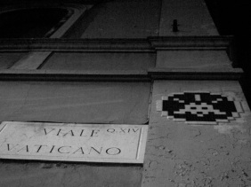 Space Invader has made his mark.