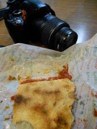 Pizza Rustica sauce on my camera....