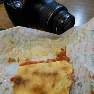 Pizza Rustica sauce on my camera....