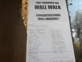 The official document stating that we, indeed, completed the wall walk.