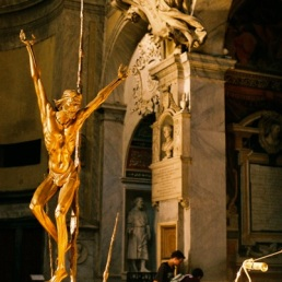 Forgive me for not knowing who made this bronze crucifix in S.M. del Popolo.
