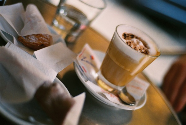 Paying extra to sit and enjoy our caffé e cappuccino.