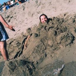 Kat: buried alive.