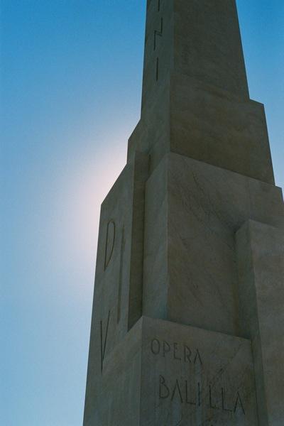 Mussolini's Obelisk, Foro Italico.