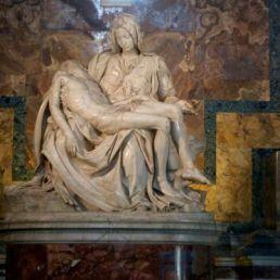Michelangelo's Pieta, 1498, St. Peter's Basilica.