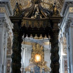 Bernini's baldacchino over the altar of St. Peter's, 1623-1634.