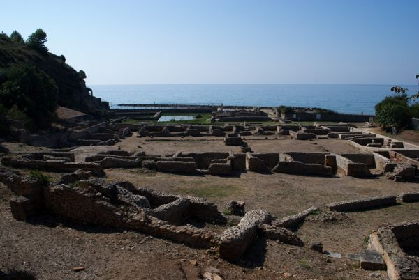 Remains of the Temple of Jupiter Anxur, Terracina, Italy.