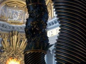 Bernini's Cathedra Petri (Throne of St. Peter) in the Basilica, 1666.