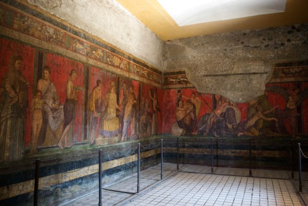 Villa of the Mysteries from its second phase in 60 BC.