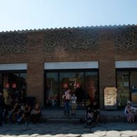 The only place to get food in Pompeii. What a trick.
