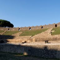 What a sight to behold - the amphitheater, which means our journey for the day has come to an end!