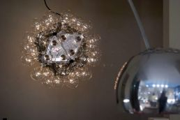 My favorite lamp - the Castiglioni brothers' Taraxacum with 60 light bulbs!