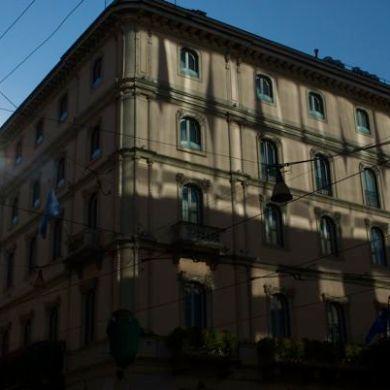 Such beautiful light on the Grand Hotel et de Milan, Via Alessandro Manzoni.