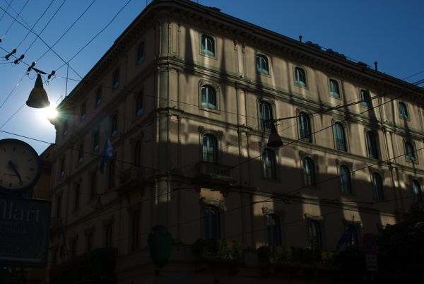 Such beautiful light on the Grand Hotel et de Milan, Via Alessandro Manzoni.