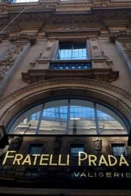 Prada in the Galleria Vittorio Emanuele, Milan.