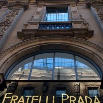 Prada in the Galleria Vittorio Emanuele, Milan.