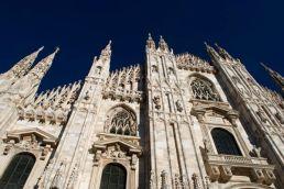 The Duomo in Milan, Italy.