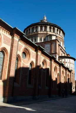 Santa Maria delle Grazie, aka the church where the Last Supper is, aka right across from my hotel, aka 2 month back-order for tickets to see it!