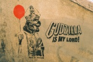Godzilla is my lord! Red balloon.