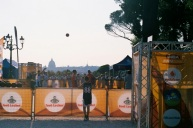 Shooting hoops with St. Peter's in the background...?
