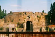 Augustus's Mausoleum, under construction.