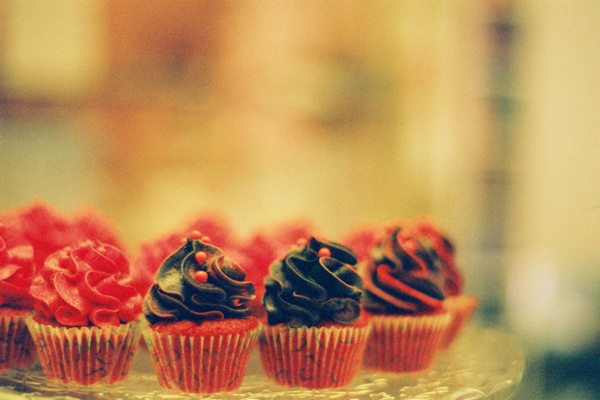 Mini cupcakes at Sweety Rome.