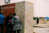 Checkpoint Charlie and a beach.