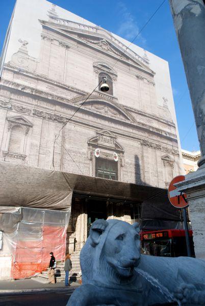 Moses Fountain & Santa Maria della Vittoria.