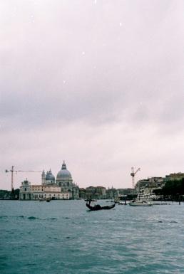 Gondola on the rocky seas.