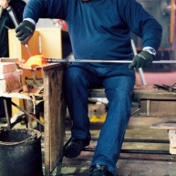Creating the legs of the glass horse.
