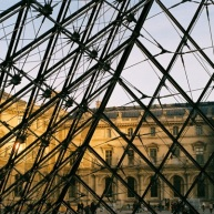 Sunset on the Louvre.