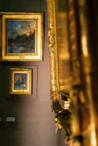 Gold frames at the Louvre.