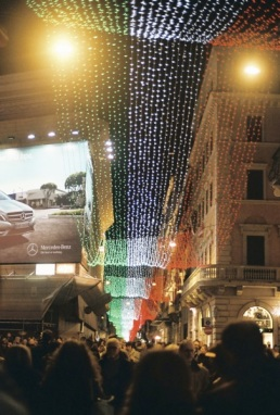 Via del Corso for the holidays.