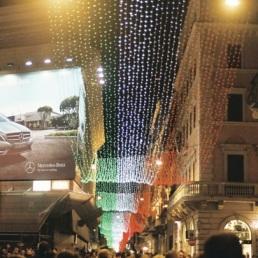 Via del Corso for the holidays.