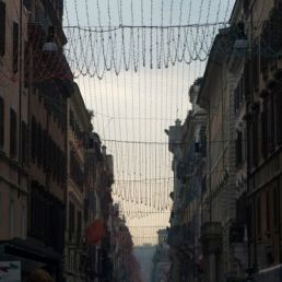 Via del Corso, ready for Christmas in early December.