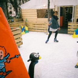 Portia tearing up the kiddie ice.
