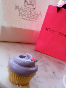 What a perfect moment. Vanilla cupcake from Magnolia Bakery, New York.