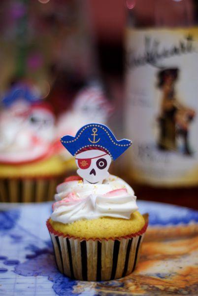 Rum cupcakes made with Blackheart rum.