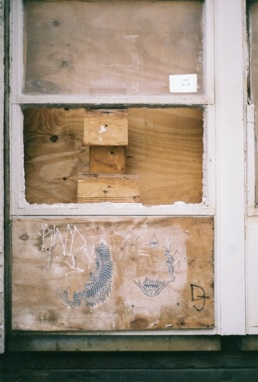 Boarded Up Window Arts Project.