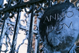 Well, the wrought iron gates are not ancient.