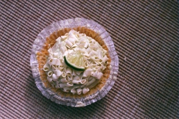 Key lime cupcake, dressed up in a little skirt.
