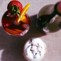 Sangria tops off Cupcake Happy Hour.