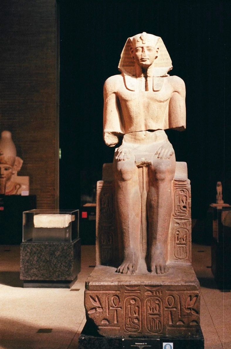 Seated statue of Ramesses II, 1291-1190 BC.