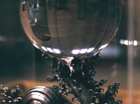 19th century crystal ball in the Chinese Rotunda. Second largest in the world at 49 pounds.