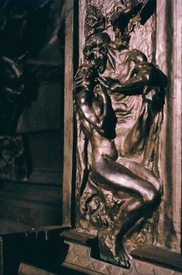 Detail of Gates of Hell. Modeled over 37 years, cast 1926-1928.