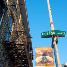 Cotton & Main Streets.