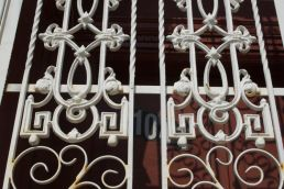 Wrought iron.