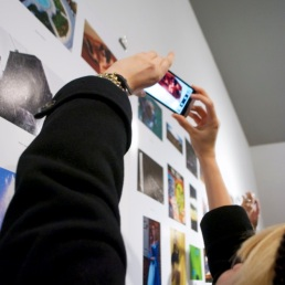 Sonia Petruse photographs her own photo.