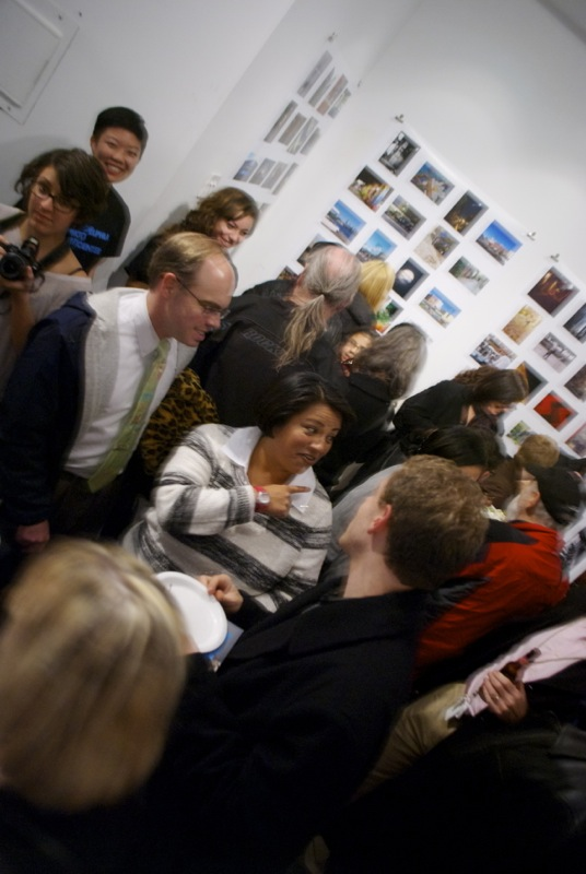 I would bet there were as many people as photos in the opening reception of Philly Photo Day!